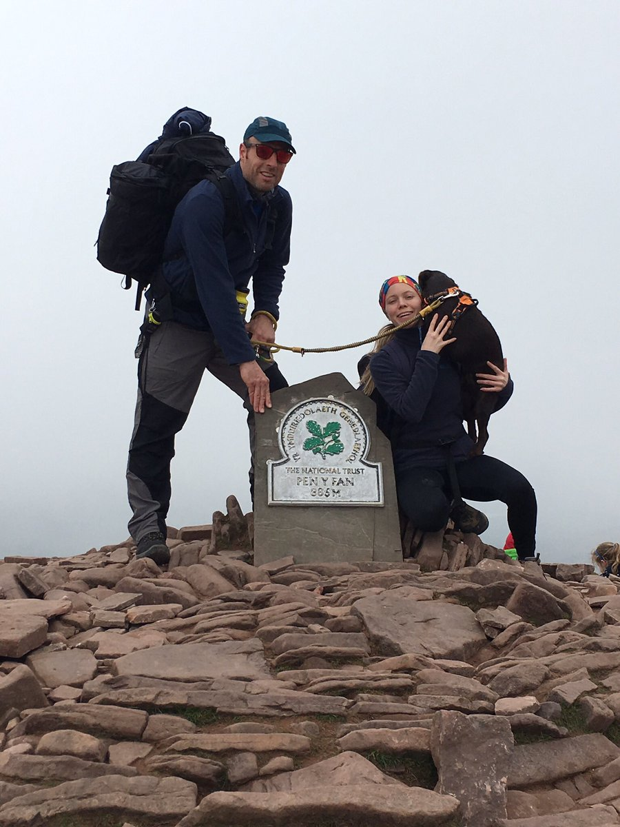 Twitter: @4run - #ScrapbookOutdoors - Can't get the dog to smile... after 900 odd meters of ascent.