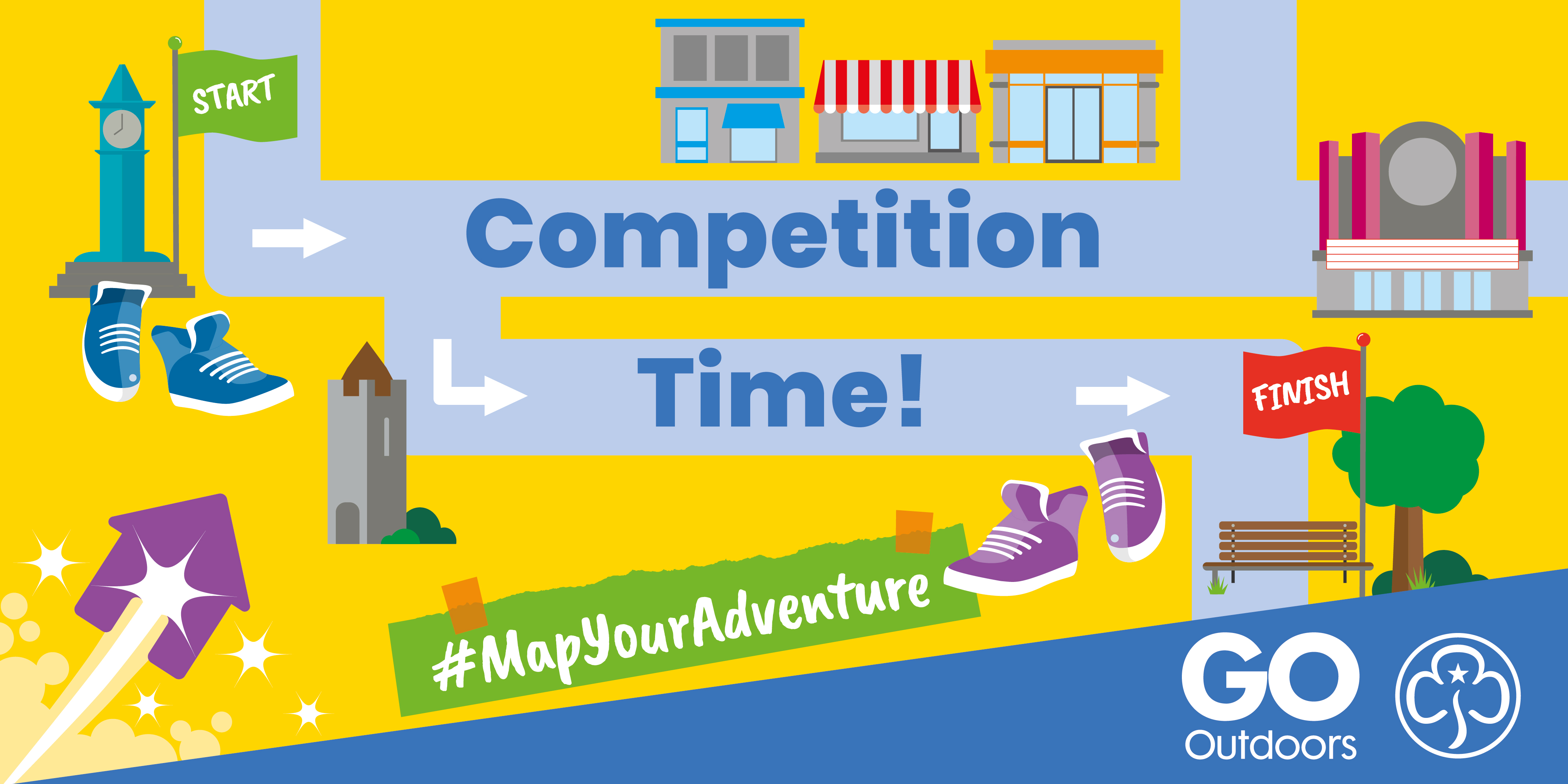 Competition Time artwork for GO Outdoors and Girlguiding